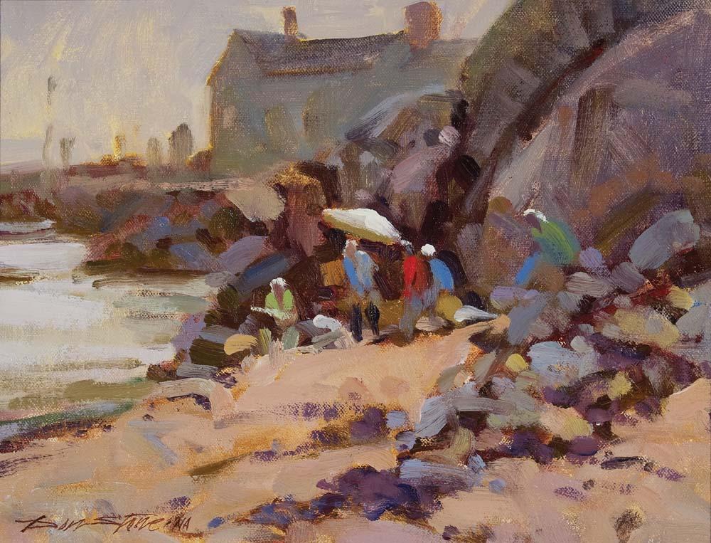 Don Stone, Painters, Swim Beach, Monhegan