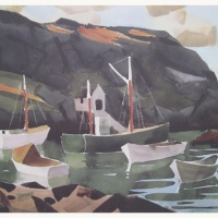 Boats of Monhegan Print