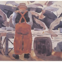 Monhegan Fisherman Print