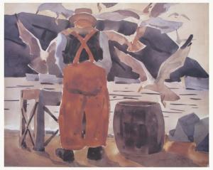 Monhegan Fisherman Print