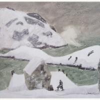 Monhegan in Winter Print