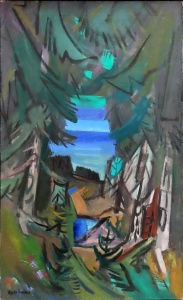 Freedman, Maurice, Cathedral to the Sea, 1968. Oil on canvas, 36 x 22 in. Courtesy of Greenhut Galleries, Portland, Maine.