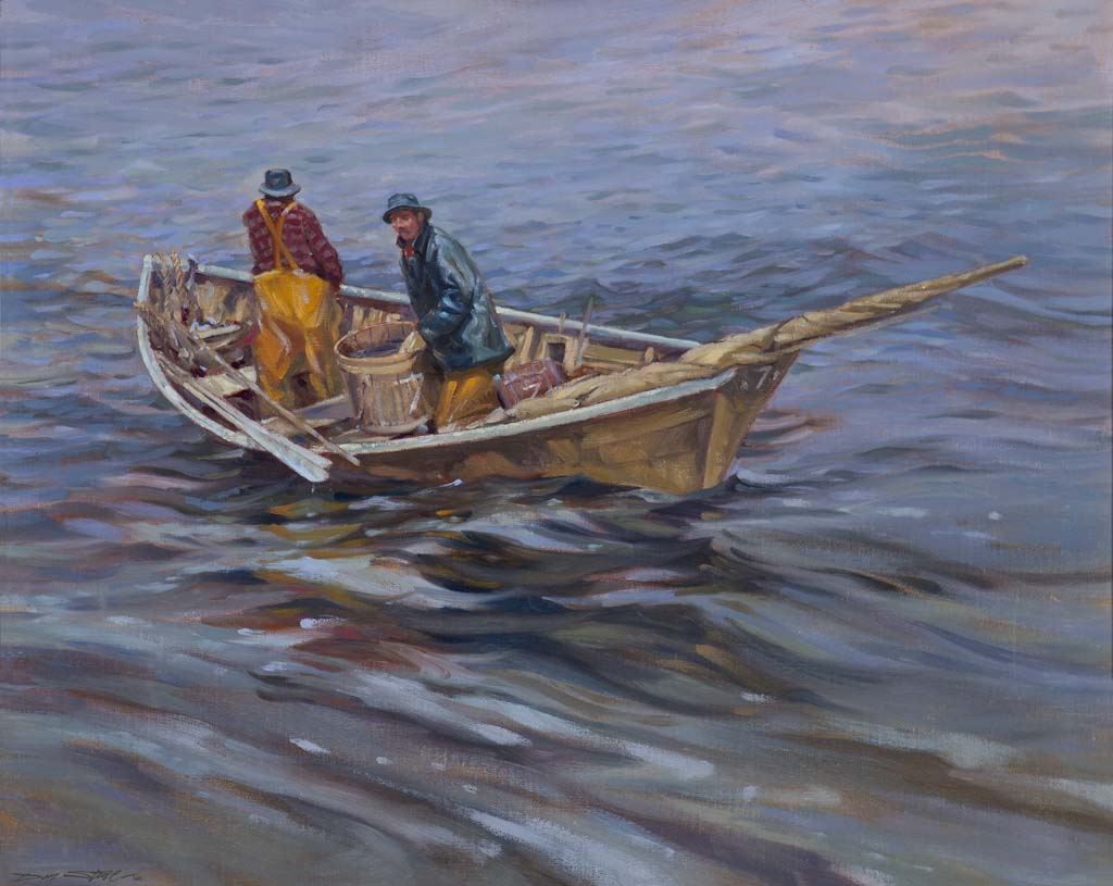 Stone, Don, Dorymen. Oil on canvas, 20 x 30 in. Collection of the Cape Ann Museum, Gloucester, MA, Gift of the artist.