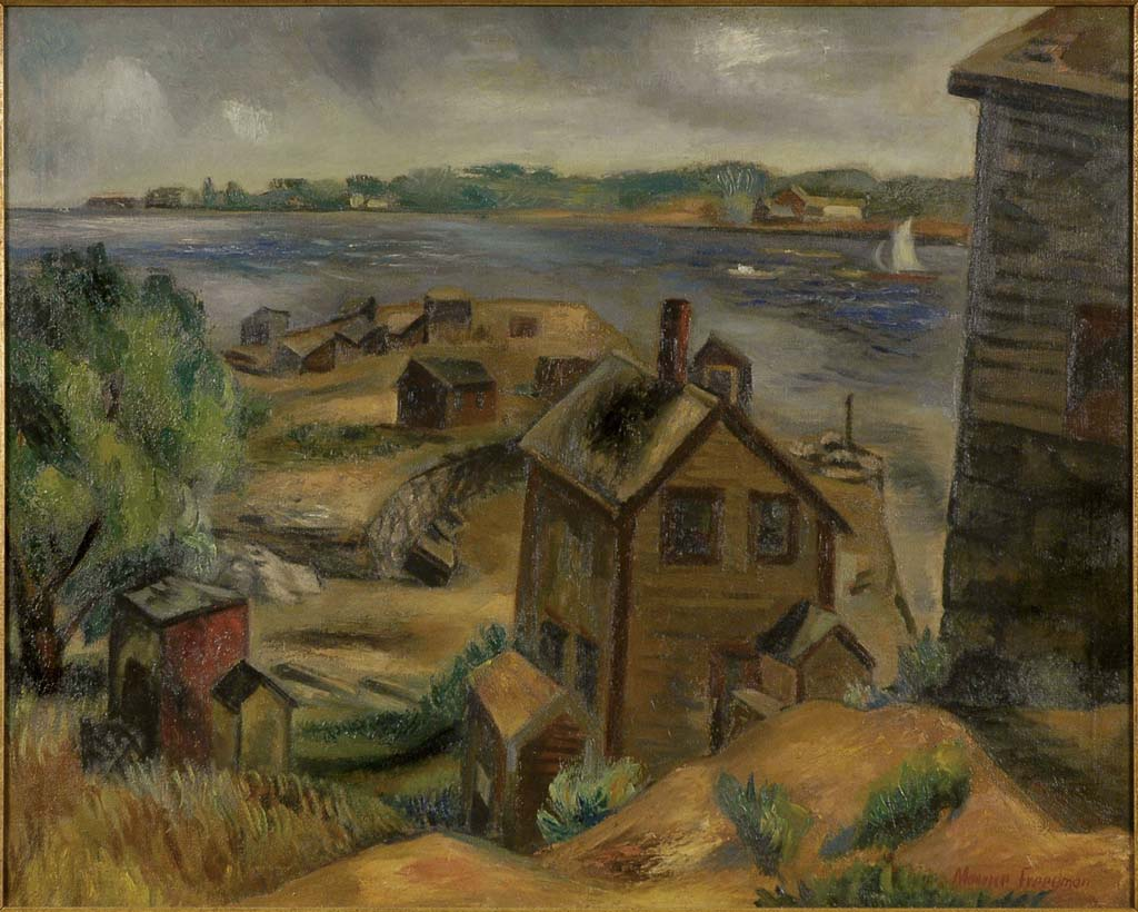 Freedman, Maurice, Rockport Quarry Dock, 1933. Oil on canvas, 24 x 30 in. Courtesy of Greenhut Galleries, Portland, Maine.